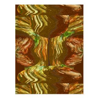GOLDEN FIRE FLAMES: Decoration Healing Energy GIFT Post Card