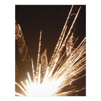 Golden Fireworks 2 Letterhead Design