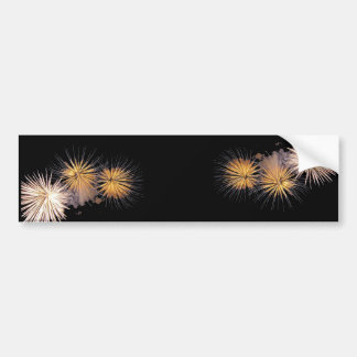 Golden Fireworks Bumper Sticker