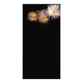 Golden Fireworks Photo Cards