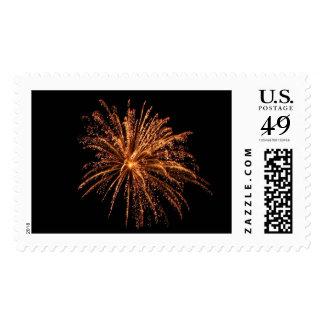 Golden Fireworks Postage