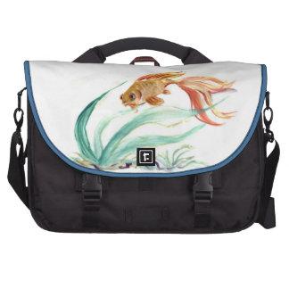 Golden Fish [goldfish], Sumi-e in color Laptop Bags