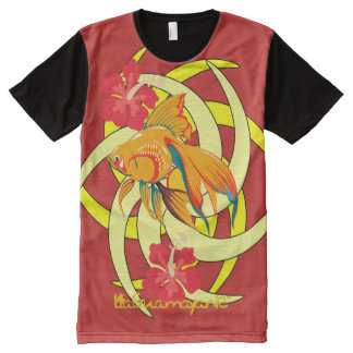 Golden fish news by LaGuamayanie© All-Over-Print T-Shirt