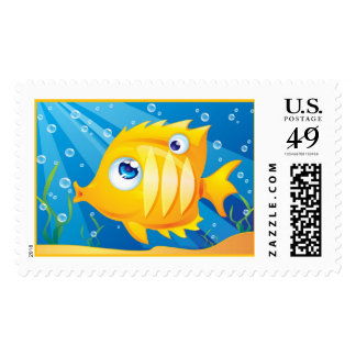 Golden Fish Postage Stamps