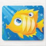 golden_fish_print mouse pads