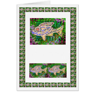 Golden Fish Rare Graphics  -  add text img Greeting Card