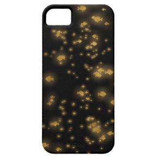 Golden Fishes Confetti Black Sea iPhone SE/5/5s Case