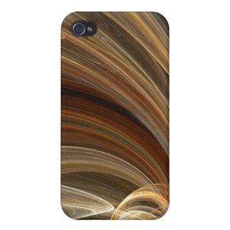 Golden Flair Bright Blast Starburst Design iPhone 4 Cases