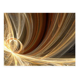 Golden Flair Bright Blast Starburst Design Postcard