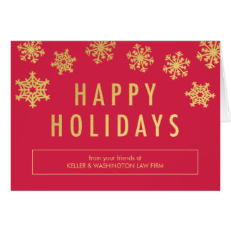 Golden Flakes Business Holiday Greeting Card