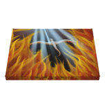Golden Flames by Kaiya Wells Canvas Print