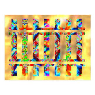Golden Flash -  Colorful Sparkle Postcard
