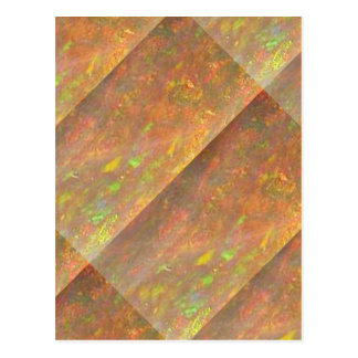 Golden Flavor : CRYSTAL Marble STONE Art Postcard