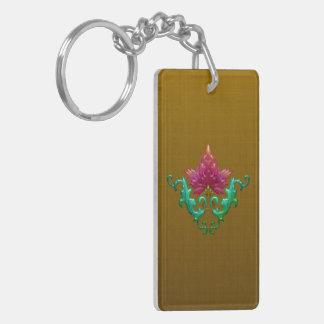Golden Fleur Acrylic Keychain