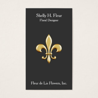 Golden Fleur De Lis Business Card