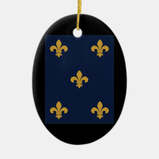 Golden Fleur De Lis Ceramic Ornament