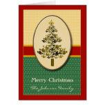 Golden FLeur de Lis Christmas Tree Card