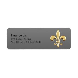 Golden Fleur De Lis Label