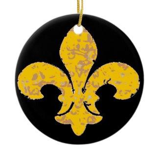 Golden Fleur De Lis ornament