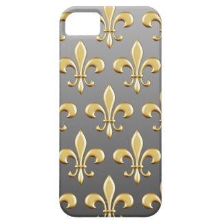 Golden Fleur De Lis Pattern on Gradient iPhone 5 Case