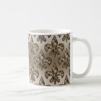 Golden Fleur-De-Lys Pattern Coffee Mug