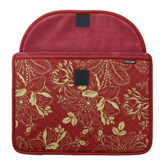 Golden Floral Macbook Pro Rickshaw Sleeve Sleeve For MacBooks