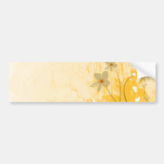 golden floral modern design bumper sticker