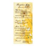 golden floral modern design personalized rack card