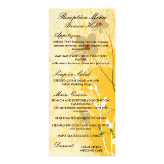 golden floral modern design rack card