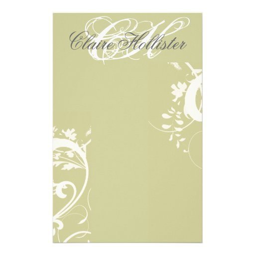 monogram wedding invitations golden floral monogrammed swirls feminine stationery zazzle 6001