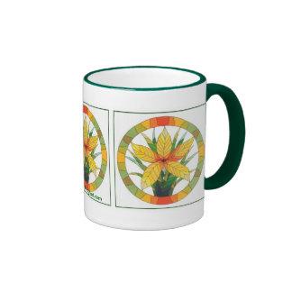 Golden Floral Mug