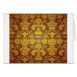 Golden floral pattern card