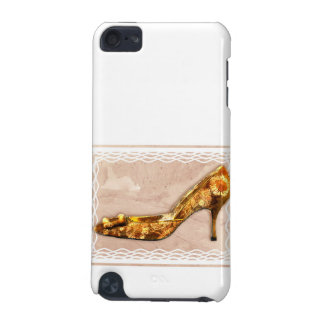 Golden Floral Royalty Shoe iPod Touch 5G Cases