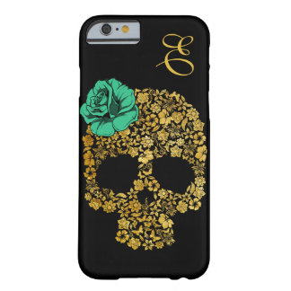 Golden Floral Skull With Rose | iPhone 6 case