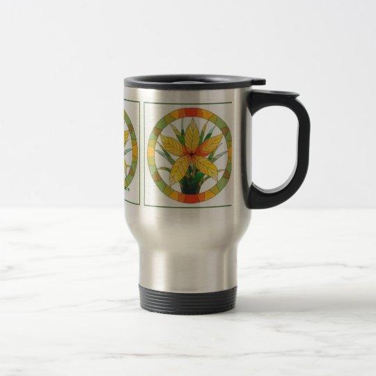 Golden Floral Travel Mug