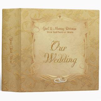 Golden Floral Wedding Album Binder