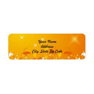 Golden Flourish Sunny Labels