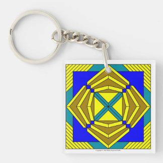 Golden Flower Key Chain