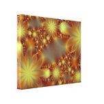 Golden flower lights gallery wrap canvas