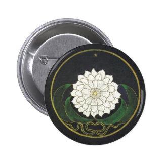 Golden Flower Mandala Button