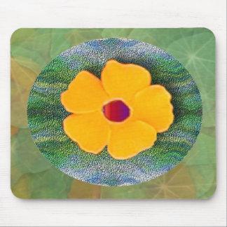 Golden flower mouse pad