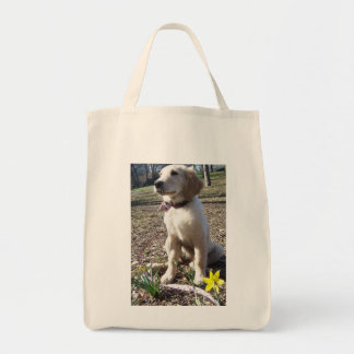 Golden Flower organic grocery bag