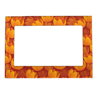 Golden Flower Pattern Frame Magnets