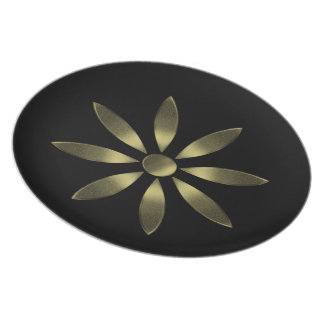 Golden Flower Plate