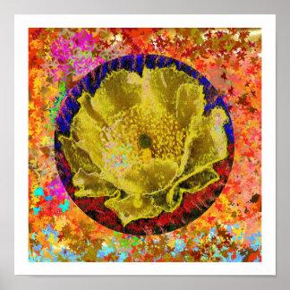 Golden Flower Poster