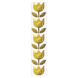 Golden flower Table Runner Short Table Runner