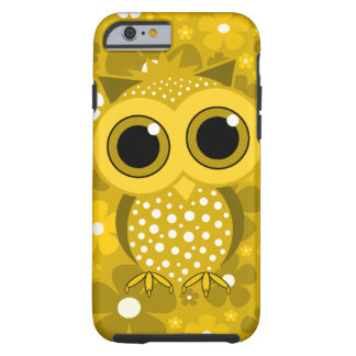 golden flowers and cute owl iPhone 6 case