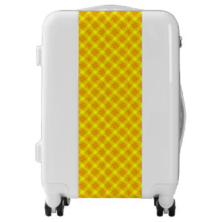 Golden Flowers Luggage