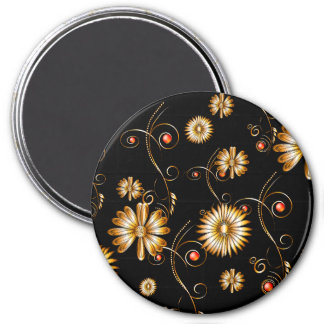 Golden flowers magnet