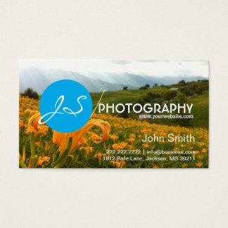Golden Flowers Modern Photography business card
